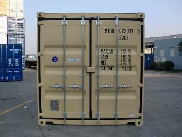 20 39 double door ral 1001 shipping containers for Door to door transport